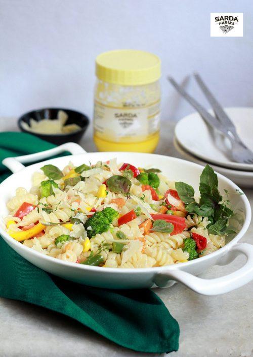 Ghee Roasted Vegetable pasta